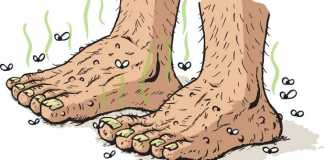 How to remove odor from feet