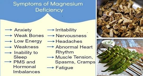 Foods high in magnesium and calcium