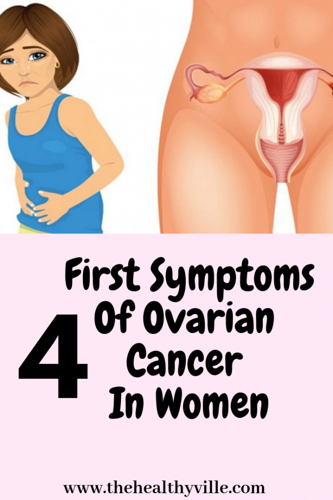 4 First Symptoms Of Ovarian Cancer In Women