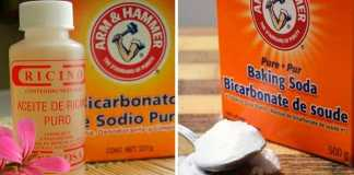 baking soda and castor oil for mole removal