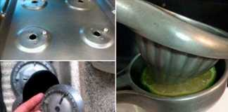 clean grease off stove top