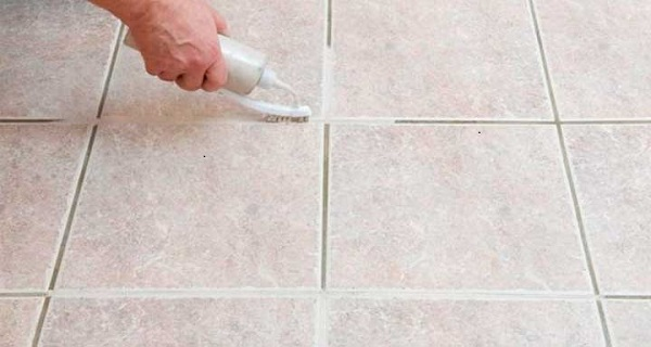 learn how clean grout between tiles can be if you use this natural cleaner. Black Bedroom Furniture Sets. Home Design Ideas