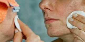pores visible on face
