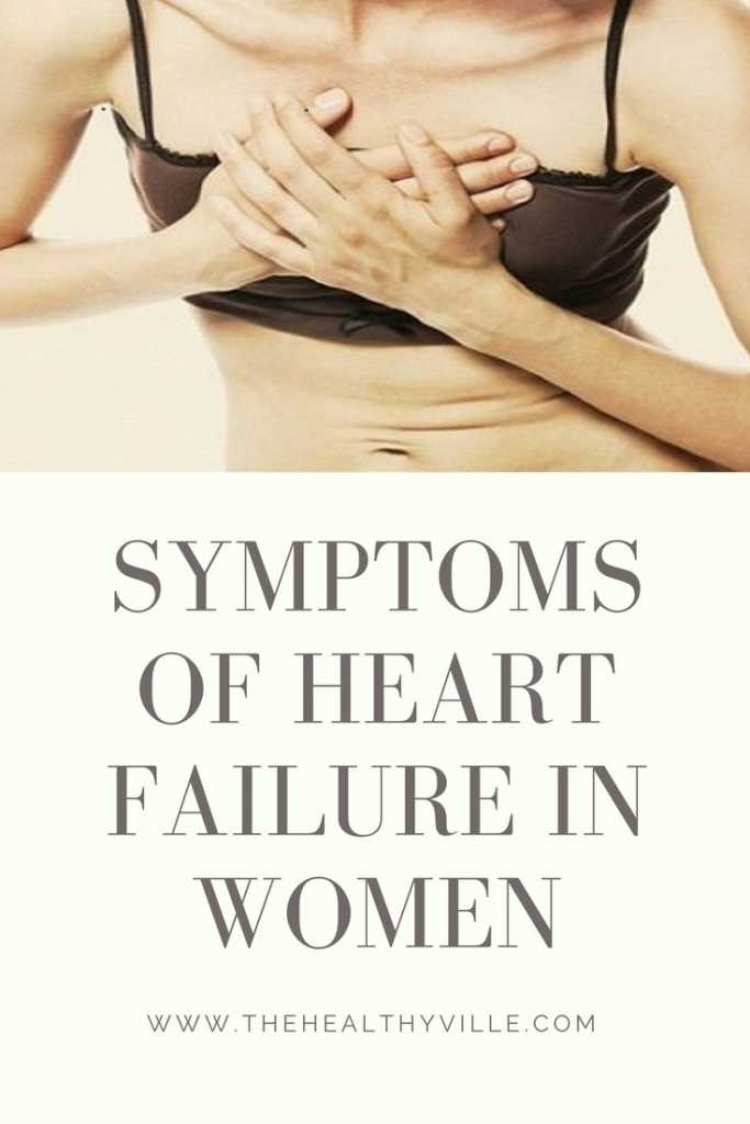 Symptoms of Heart Failure in Women